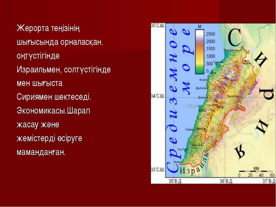 Жерорта теңізінің шығысында орналасқан. оңтүстігінде Израильмен, солтүстігін...