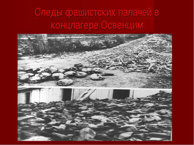 Следы фашистских палачей в концлагере Освенцим