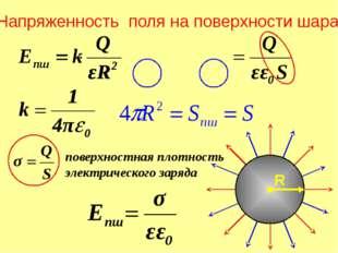 Напряженность поля бесконечной плоскости