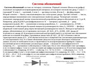 Система обозначений Система обозначений состоит из четырех элементов. Перв