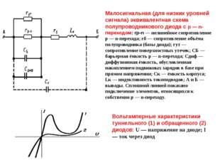 Малосигнальная (для низких уровней сигнала) эквивалентная схема полупроводник