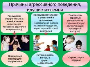 Причины агрессивного поведения, идущие из семьи Разрушение эмоциональных связ