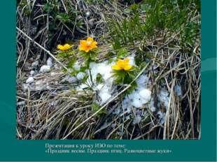 Презентация к уроку ИЗО по теме: «Праздник весны. Праздник птиц. Разноцветные