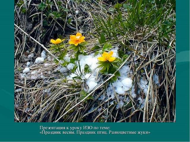 Презентация к уроку ИЗО по теме: «Праздник весны. Праздник птиц. Разноцветные...