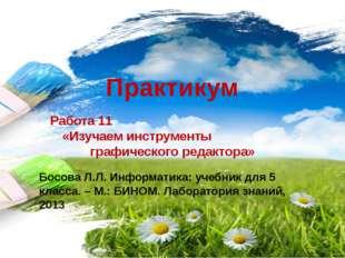 Практикум Работа 11 «Изучаем инструменты графического редактора» Босова Л.Л.
