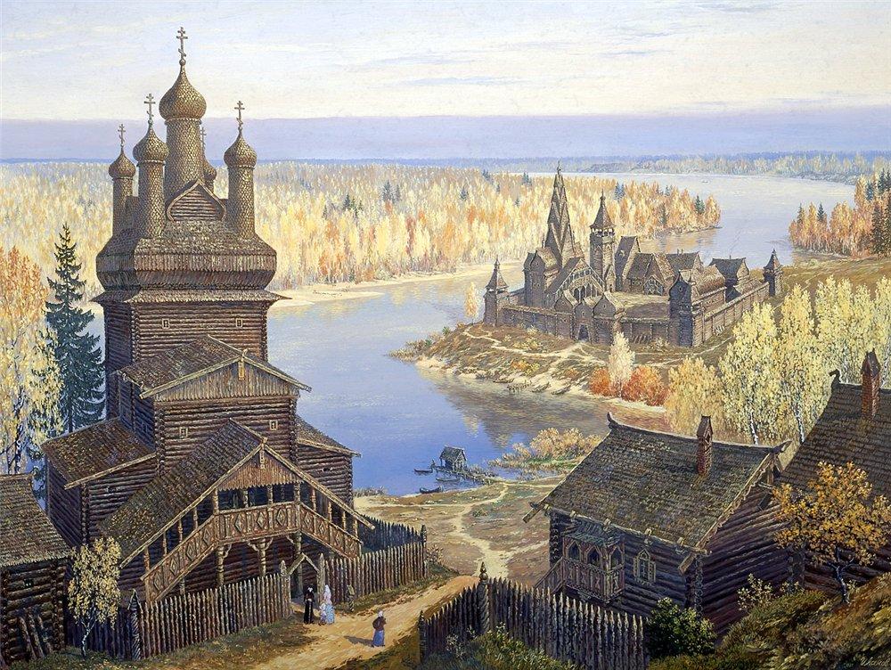 Изучая его красивые картины, погружаешься в древнюю историю Руси. Позитив