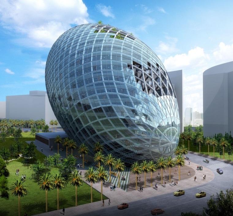 Здание-яйцо (Cybertecture Egg)