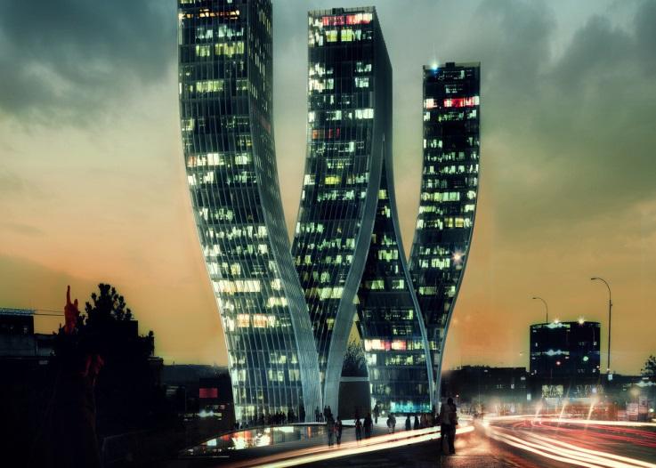 Здание в форме буквы W в Праге - Мир путешествий