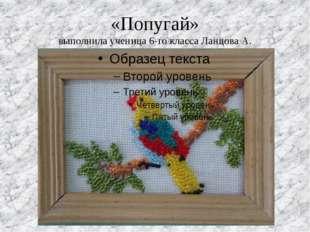 «Попугай» выполнила ученица 6-го класса Ланцова А.