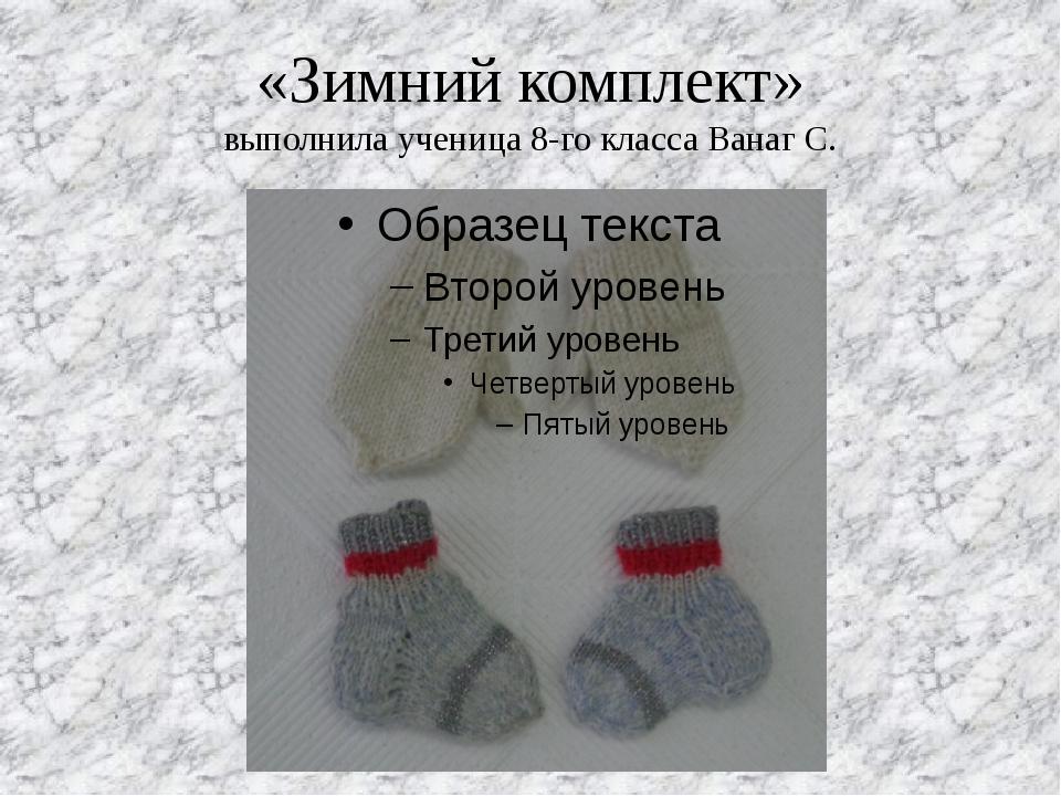«Зимний комплект» выполнила ученица 8-го класса Ванаг С.