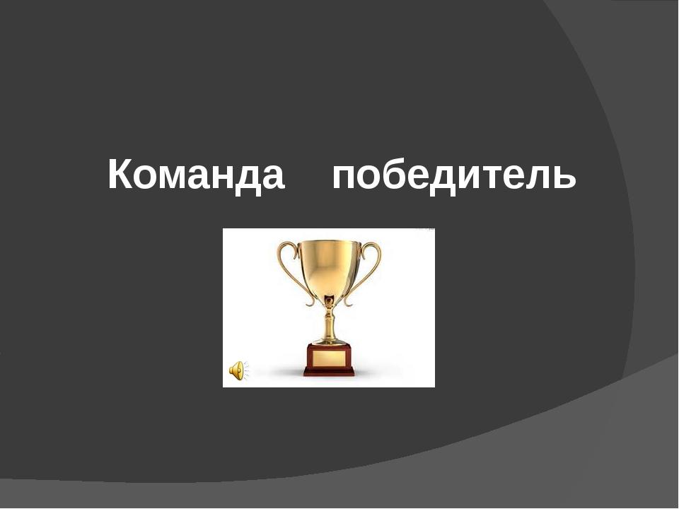 Команда победитель