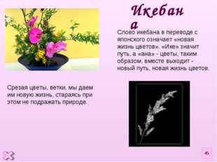 Срезая цветы, ветки, мы даем им новую жизнь, стараясь при этом не подражать п
