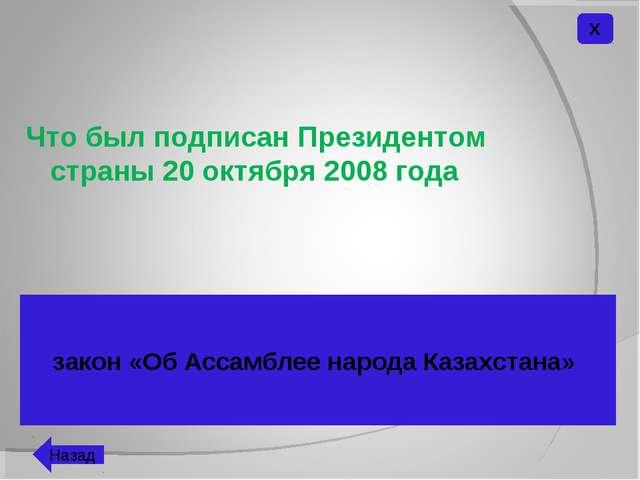 Что был подписан Президентом страны 20 октября 2008 года закон «Об Ассамблее...