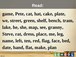 game, Pete, cat, hat, cake, plate, we, street, green, shelf, bench, tram, lak