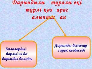 Дарындылық туралы екі түрлі көзқарас қалыптасқан Дарынды балалар сирек кездес