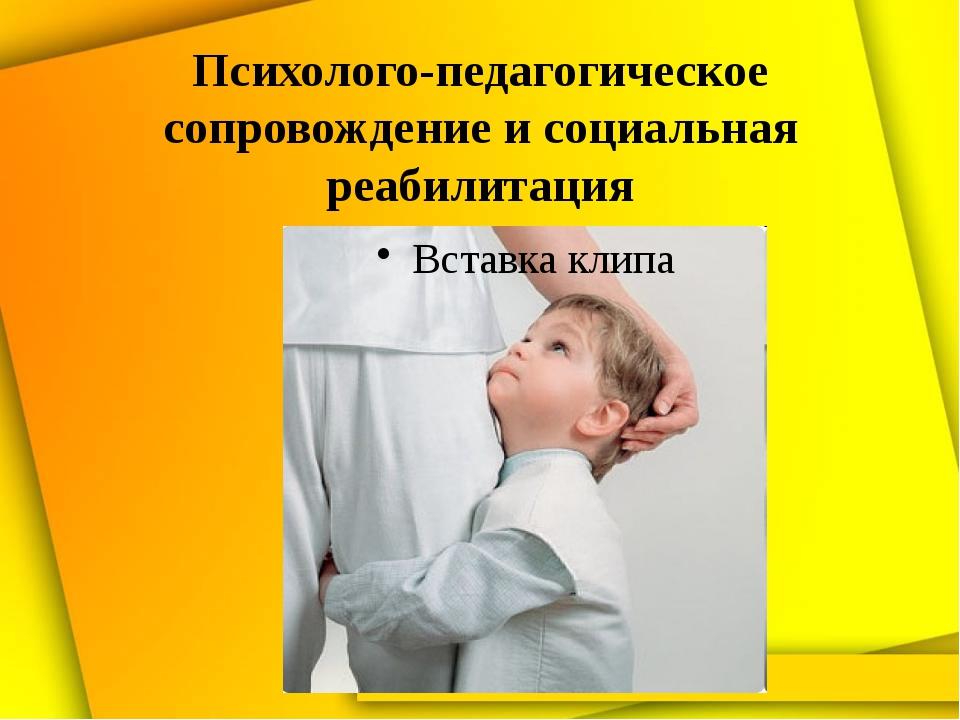 Психолого-педагогическое сопровождение и социальная реабилитация