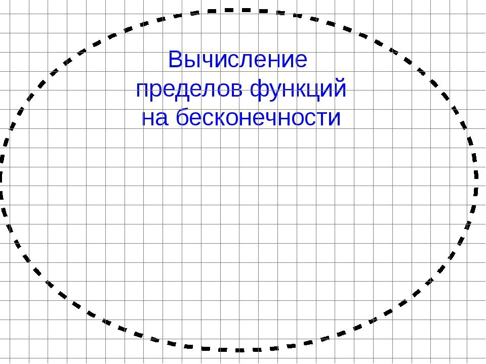Вычисление пределов функций на бесконечности