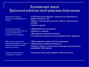 Постановка задачи, проблемы, побуждающих к поиску Объяснительный диктант с п