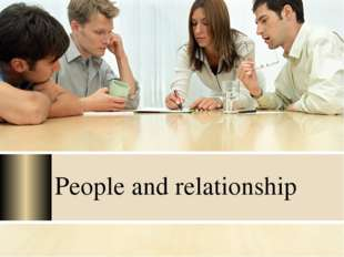 People and relationship