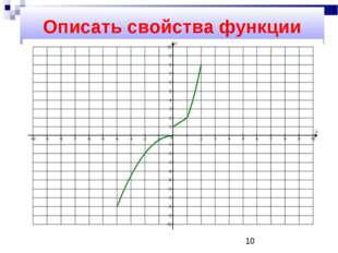 Описать свойства функции