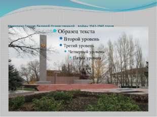 Мемориал Героев Великой Отечественной войны 1941-1945 годов
