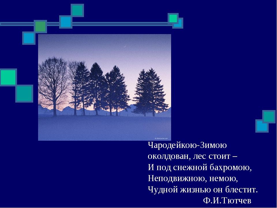 Чародейкою-Зимою околдован, лес стоит – И под снежной бахромою, Неподвижною,...