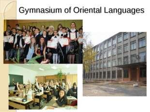 Gymnasium of Oriental Languages