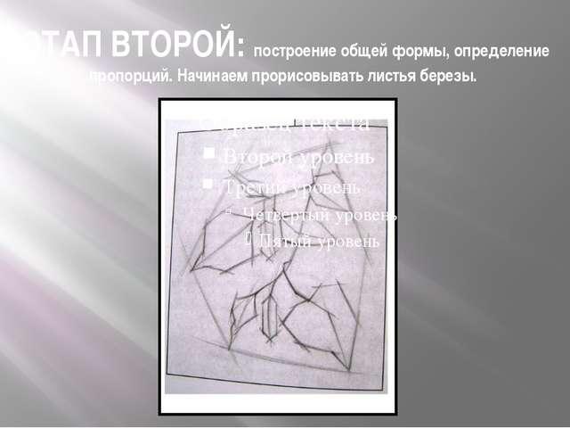 ЭТАП ВТОРОЙ: построение общей формы, определение пропорций. Начинаем прорисов...