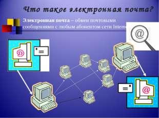 Что такое электронная почта? Электронная почта – обмен почтовыми сообщениями