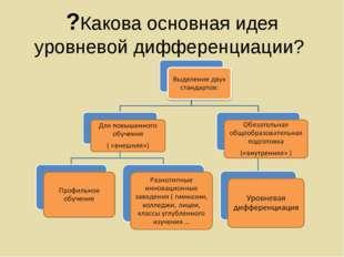 ?Какова основная идея уровневой дифференциации?