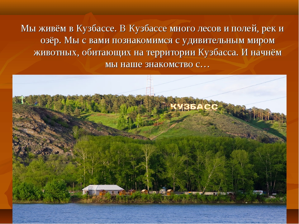 Мы живём в Кузбассе. В Кузбассе много лесов и полей, рек и озёр. Мы с вами по...