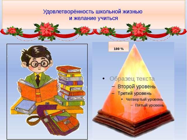 Удовлетворённость школьной жизнью и желание учиться 100 %