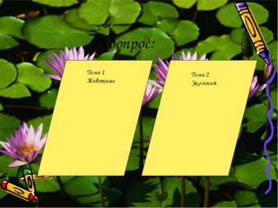 3 вопрос: Тема 1 Животные Тема 2 Экология