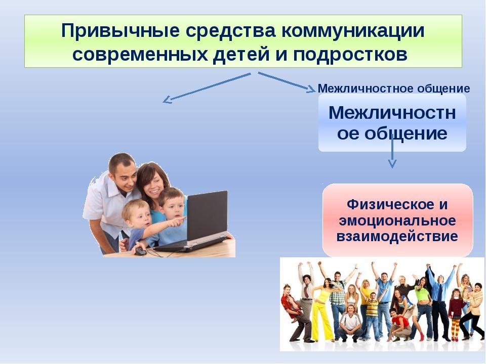 Привычные средства коммуникации современных детей и подростков