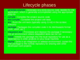Lifecycle phases generate-sources: Generates any extra source code needed for