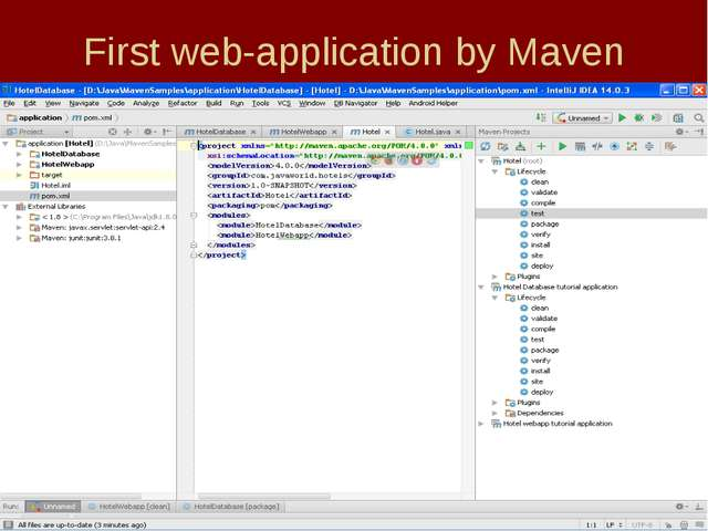 First web-application by Maven