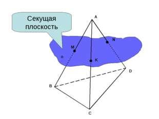 Секущая плоскость А В С D M N K α