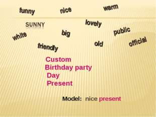 Custom Birthday party Day Present Model: nice present lovely nice old funny