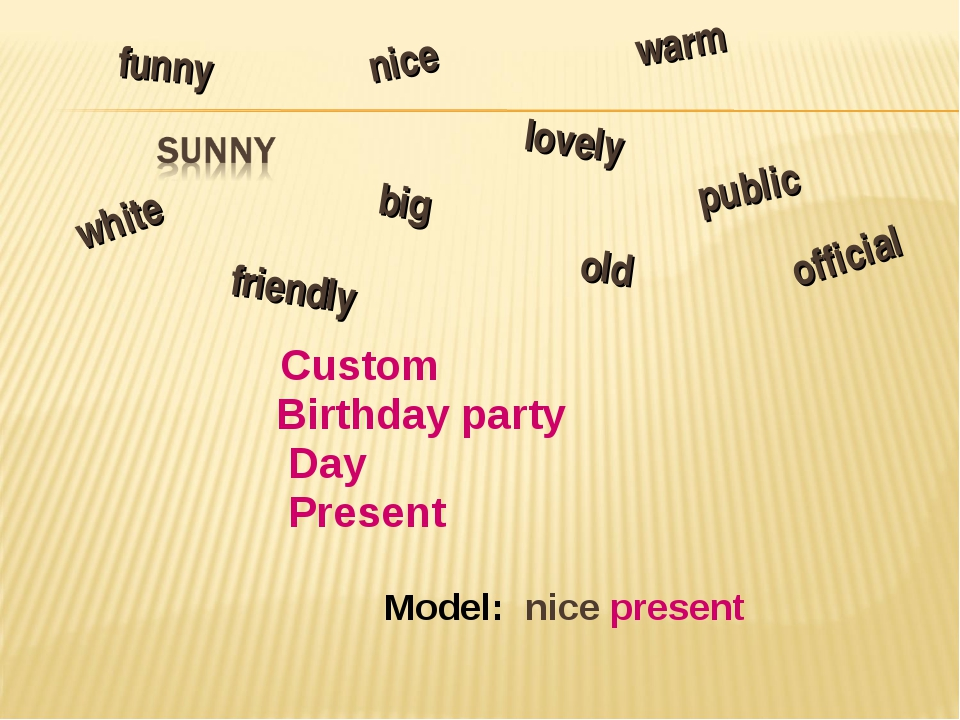 Custom Birthday party Day Present Model: nice present lovely nice old funny...