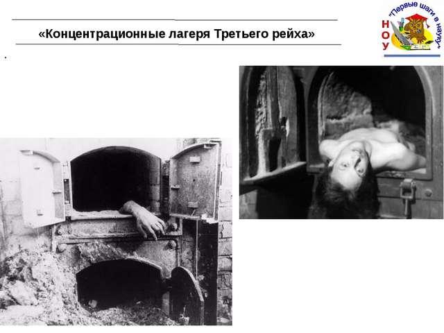 «Концентрационные лагеря Третьего рейха» .