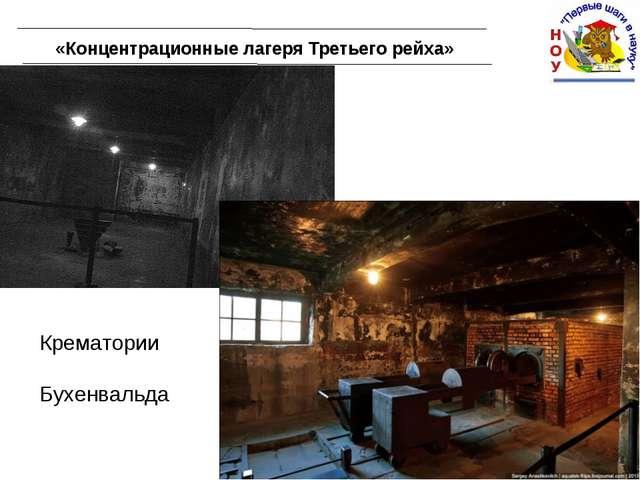 «Концентрационные лагеря Третьего рейха» Крематории Бухенвальда