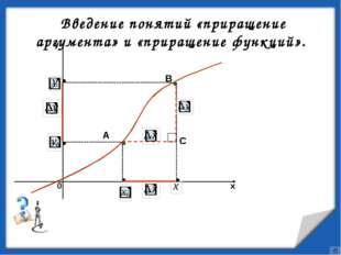Определение 2: Разность y - y0 называют приращением функции.   Определен