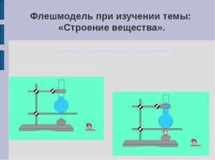 Флешмодель при изучении темы: «Строение вещества». Флеш-модель: «Расширение ж