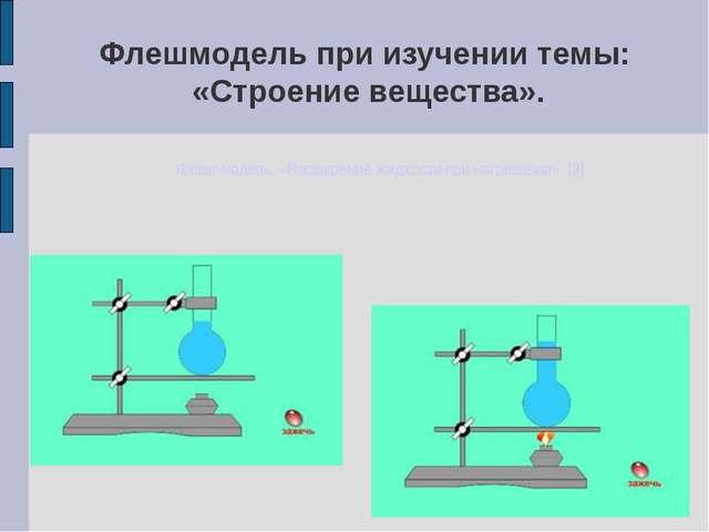 Флешмодель при изучении темы: «Строение вещества». Флеш-модель: «Расширение ж...