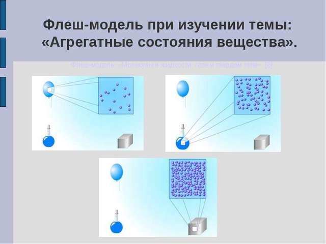Флеш-модель при изучении темы: «Агрегатные состояния вещества». Флеш-модель:...