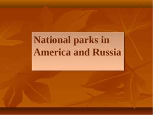 National parks in America and Russia