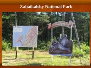 Zabaikalsky National Park