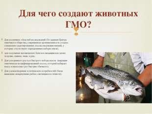Для чего создают животных ГМО? Для различных областей исследований (По данным
