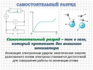 Ионизация электронным ударом: кинетическая энергия разогнанного полем электро