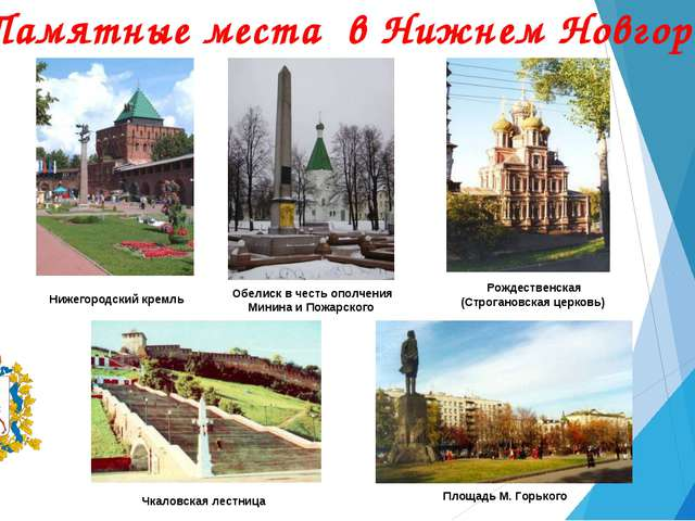 Памятные места в Нижнем Новгороде Нижегородский кремль Обелиск в честь ополче...